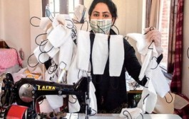#CoronaVirus: श्रीनगरची पहिली फॅशन डिझायनर सादिया तयार करतेय कोरोना रुग्णांसाठी मास्क
