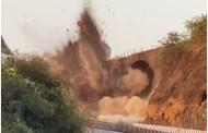 मुंबई-पुणे महामार्गावरील ऐतिहासिक अमृतांजन पूल जमीनदोस्त