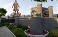 मोशीत साकारतोय धर्मवीर संभाजी महाराजांचा महाराष्ट्रातील सर्वात मोठा पुतळा
