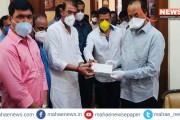 कै. भिकू वाघेरे प्रतिष्ठानची सामाजिक बांधिलकी, मुख्यमंत्री सहाय्यता निधी १ लाखाची मदत