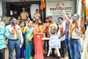 निद्रिस्त महावितरणला जागे करण्यासाठी भाजपचे 'जागा हो कुंभकर्णा' आंदोलन