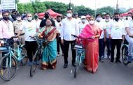 'इंडीया सायकल्स 4 चेंज' उपक्रमाचे आयुक्त व महापौरांच्या हस्ते उद्घाटन