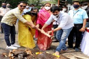चिंचवडच्या श्रीधरनगरात रस्ते कॉंक्रिटीकरणाचे भूमिपूजन