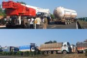 आंबोलीमध्ये गॅस टँकर आणि क्रेनमध्ये अपघात, मुंबई-अहमदाबाद महामार्गावर 3 किमीपर्यंत वाहतूक कोंडी