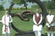 आरोग्य वनच्या उद्घाटनानंतर पंतप्रधान मोदींनी आरोग्य वनाचा केला दौरा