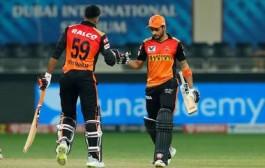 IPL 2020 : सनरायझर्स हैदराबादकडून राजस्थानचा आठ विकेट्सनी पराभव