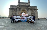 चापेकर चौक ते गेट वे ऑफ इंडिया सायकल रॅली काढून शहिदांना वाहिली श्रध्दांजली
