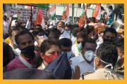 ओबीसी आरक्षण : समीर भुजबळ, रुपाली चाकणकरांचे पुण्यात आंदोलन; महाविकास आघाडी सरकारला घरचा आहेर!