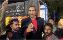 दिल्लीतील शेतकऱ्यांच्या आंदोलनाला 'द ग्रेट खलीचा' पाठिंबा