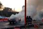 ठाण्यात ईस्टर्न एक्सप्रेस वे वर धावत्या कारला आग, सुदैवाने जीवितहानी नाही
