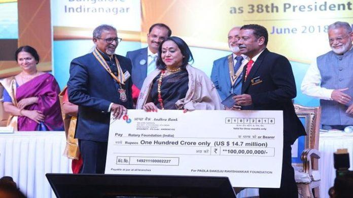 कर्नाटकच्या व्यावसायिकाकडून तब्बल 100 कोटींचे दान