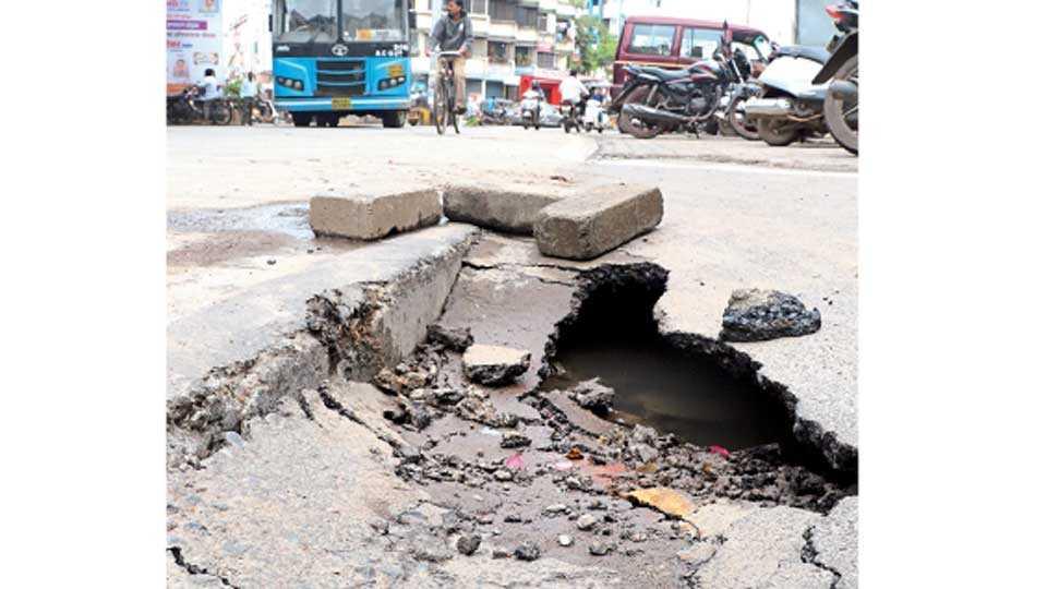 पिंपरी चिंचवड शहरात जिकडे तिकडे खड्डेच खड्डे ; शहर अभियंत्याचे दुर्लक्ष