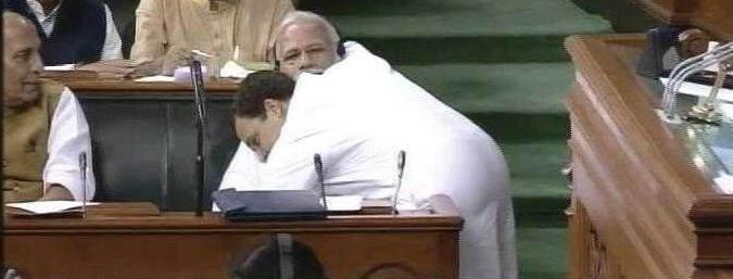 राहुल गांधींची मोदींना जादुची झप्पी