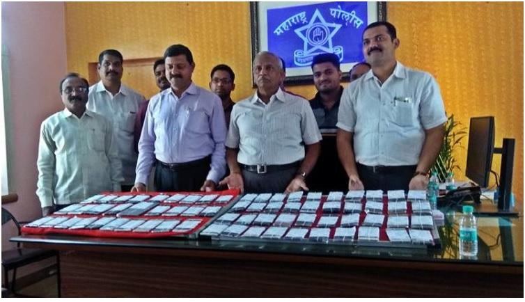 5 लाख 85 हजार रुपये किंमतीचे महागडे मोबाईल पोलिसांच्या हाती