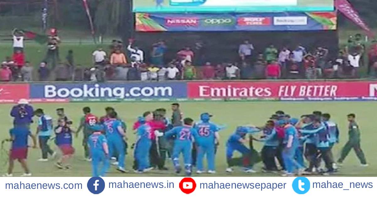 अंडर १९ वर्ल्ड कप :  ICC कडून बांग्लादेशी आणि भारतीय खेळाडूंवर कारवाई