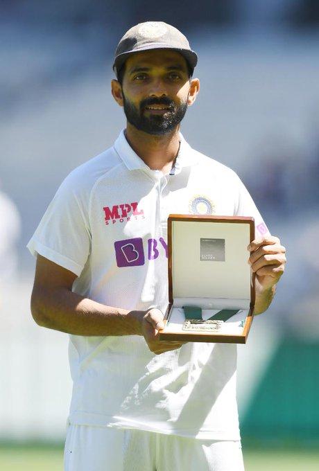 India vs Australia सामन्यात अजिंक्य रहाणे ठरला सामनावीर